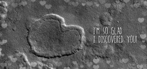バレンタインには特別な「火星からのハートマーク」はいかが?