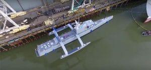 無人の対潜ドローン水上艦「Sea Hunter」進水。人工知能で数ヶ月の航行可能