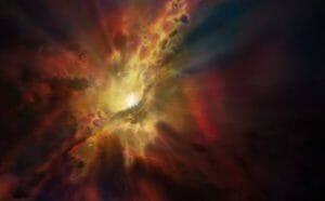 「超大質量ブラックホール」がガス雲を食べる様子、ALMA望遠鏡が初観測