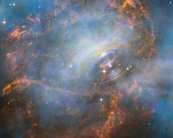 「かに星雲」の美しい甲羅の中身 ハッブルが観測に成功