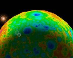 「何か」が準惑星ケレスのクレーターを消し去った?:研究報告