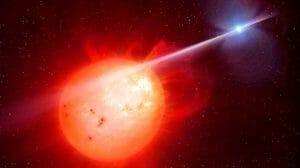 白色矮星と赤色矮星「さそり座AR星」 奇妙な宇宙のダンスが判明
