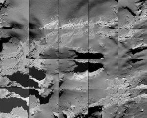 彗星の謎、解明へ…ロゼッタ探査機が最後に見た光景が公開される
