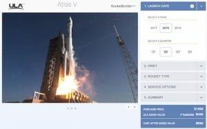 数クリックでロケット打ち上げ価格が試算できるサイト、ULAが公開 無料で誰でも利用可能