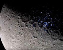 準惑星「ケレス」に水の氷 北極のクレーターで発見 探査機ドーン