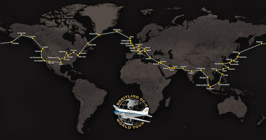 Breitling DC-3 World Tour - Map