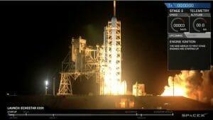 スペースX、「ファルコン9」で通信衛星打ち上げ実施 第1段着陸は行わず