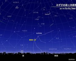 「みずがめ座η流星群」が5月6日頃に極大! 今年の観測条件は?