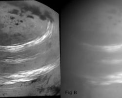 土星衛星「タイタン」にリング状のメタン雲 カッシーニ捉える