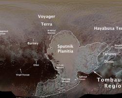 冥王星の「ハート型の地形」や周辺の名称が決定 ハヤブサ大地も登場
