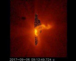 先日の大規模太陽フレア、観測衛星「ひので」のX線撮影で見てみると……