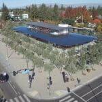 Apple新本社の一般人も入れるビジターセンター、ドローン空撮でみてみましょ