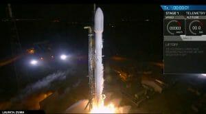 政府系謎ミッション「Zuma」、スペースXが打ち上げ成功 ロケット第1段着陸も実施