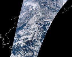 「しきさい」画像を初取得 気候変動観測衛星