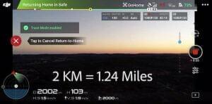 折りたたみドローン「Mavic Air」による2kmの遠距離操縦の様子 5.8GHz帯のWi-Fi利用