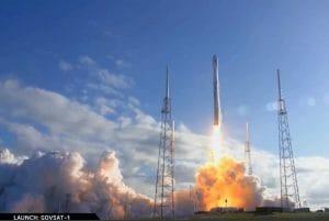 スペースX「ファルコン9」ロケット打ち上げ成功 通信衛星「GovSat-1」投入