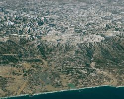人工衛星から見たオリンピック会場の平昌市