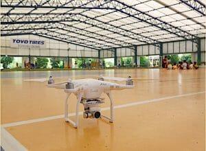 都内3箇所にドローン練習場「DRONE COURT」がオープン 風が吹くコートも