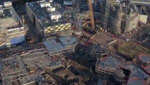 ドローンが米ディズニーランドの新アトラクション「Star Wars: Galaxy's Edge」建築現場を空撮