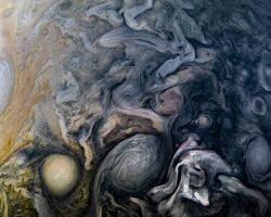 抽象画のような木星の雲