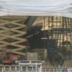 スペースX「BFR」製造機器が配置されたテントが撮影される