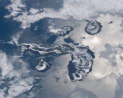 ガラパゴス諸島を宇宙からパシャリ