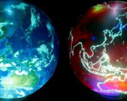 リアルタイムで表示が変わる地球儀「SPHERE」登場。過去から未来、AR機能も