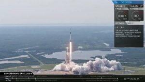 スペースX「ファルコン9 ブロック5」打ち上げ成功 「Bangabandhu Satellite-1」投入