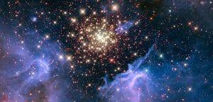 宇宙に散らばる星々の花火