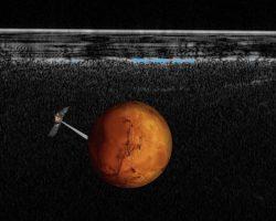 火星南極の氷下に「大きな湖」存在か 生命存在への期待も