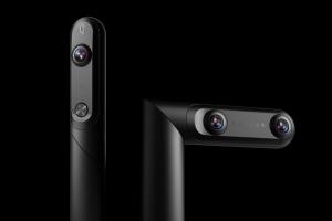 三友、3つのカメラを搭載した180°3D&360°VRカメラ「QooCam」を発売