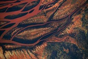 マダガスカルのジャングル、宇宙ステーションから撮影