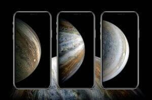 「iPhone XS」気分先取り? 木星モチーフの壁紙をどうぞ