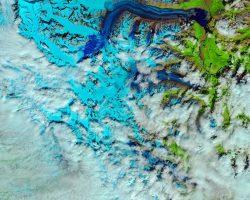 カナダの氷河と雪解け