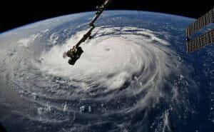 ハリケーン「フローレンス」を宇宙からパシャリ