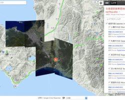 北海道胆振東部地震の衛星写真、Google 災害情報マップでも公開