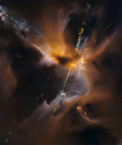生まれたばかりの恒星が作り出す小さな領域
