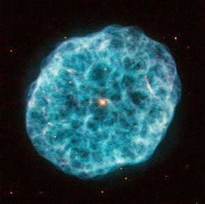 宇宙に浮かぶ「貝と生体鉱物」の様な星雲