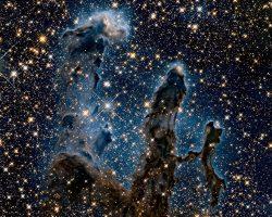 赤外線撮影が明らかにした「創造の柱」の細部