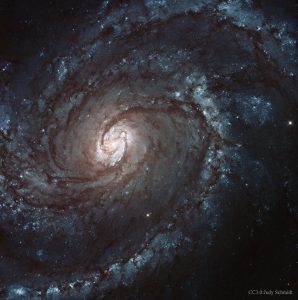 1000億を超える星で構成されている「M100」と超新星爆発の痕跡