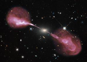 天の川銀河の1000倍強力なブラックホールが放つジェット