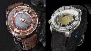 これぞ手首に身につける宇宙。火星と月を再現した腕時計