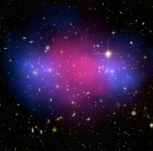 銀河団の衝突合体によるダークマターの存在
