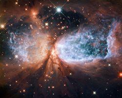 大質量星が作り出した荒れ狂う驚異の様な星形成領域