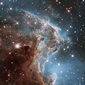 """宇宙の""""猿頭""""の中で多くの星が生まれている"""