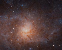 画像1枚で1.6GB!ハッブル公開画像で2番目に巨大な「さんかく座銀河」