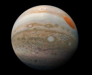 ずいっとクローズアップ。探査機「ジュノー」が撮影した木星の南半球