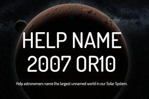 候補は3つ。どれにする? 太陽系外縁天体の命名投票スタート!!