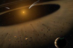 昔の太陽系のよう。木星と小惑星帯と太陽に似た構造