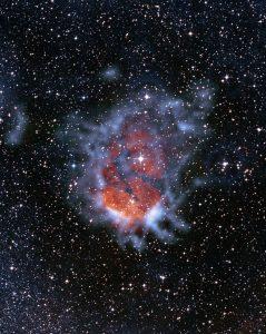 毒リンゴみたい。湧き出すような泡構造を照らすO型星